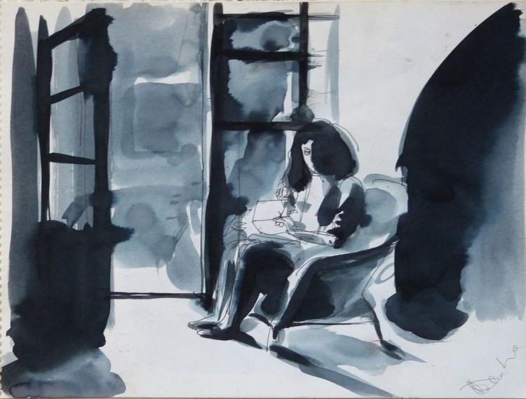 Reading, 24x32 cm - Image 0