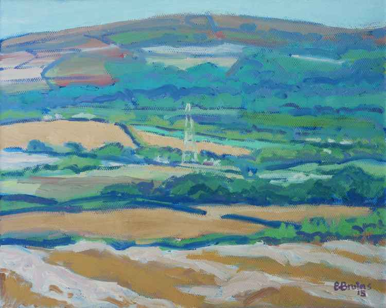 Rural landscape with Codden Hill -