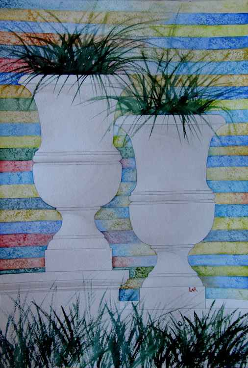 Abstraction with vases 2 -