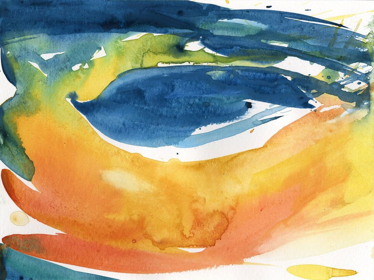 Serenity 12 - Abstract Watercolor Painting by Kathy Morton Stanion - Image 0