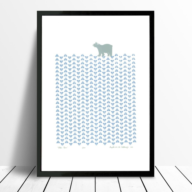 Polar Bear - Framed - FREE UK Delivery - Image 0