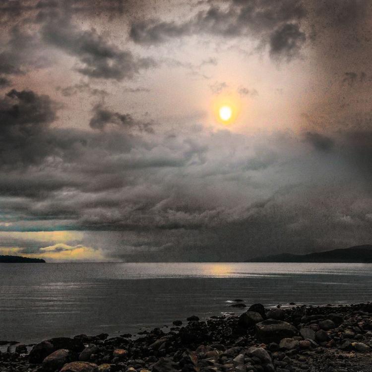 Storm Coming - Monoprint - Image 0