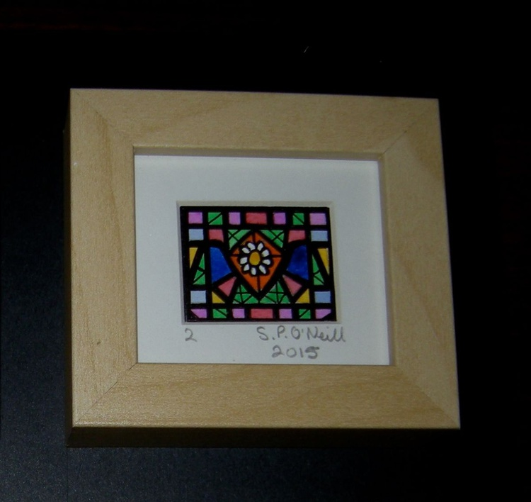 Mini stained glass window 2 - Image 0