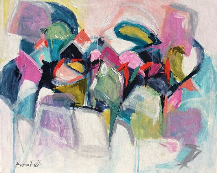 """Abstract in Acrylic 'my child within' 24""""x30"""" - Image 0"""