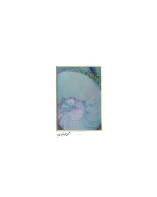 Sea Shell Watercolor Painting, Ocean - Nautilus Shell No. 953 -