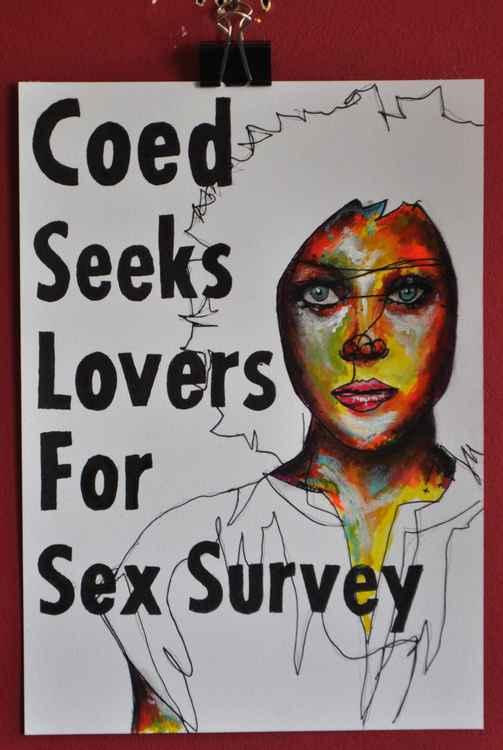 COED SEEKS LOVERS FOR SEX SURVEY
