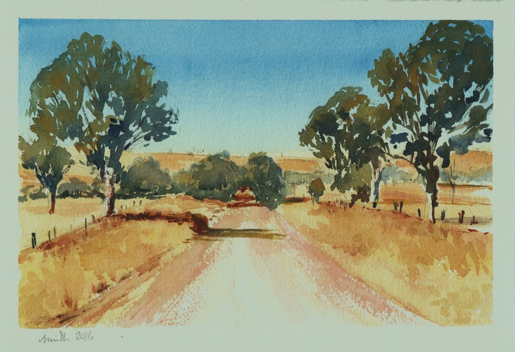 Australian Adventure.  19.5 x28.5 cm Watercolour Painting. - Image 0
