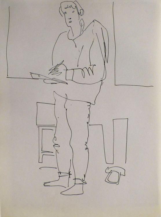 Self-portrais, Passage Charles-Albert, #12 24x32 cm - Image 0