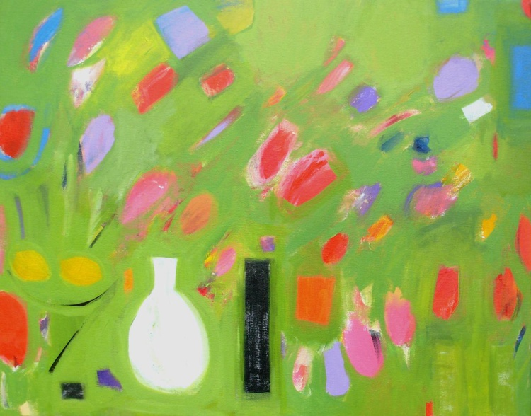 Abstract Still Life with Tulips - Image 0