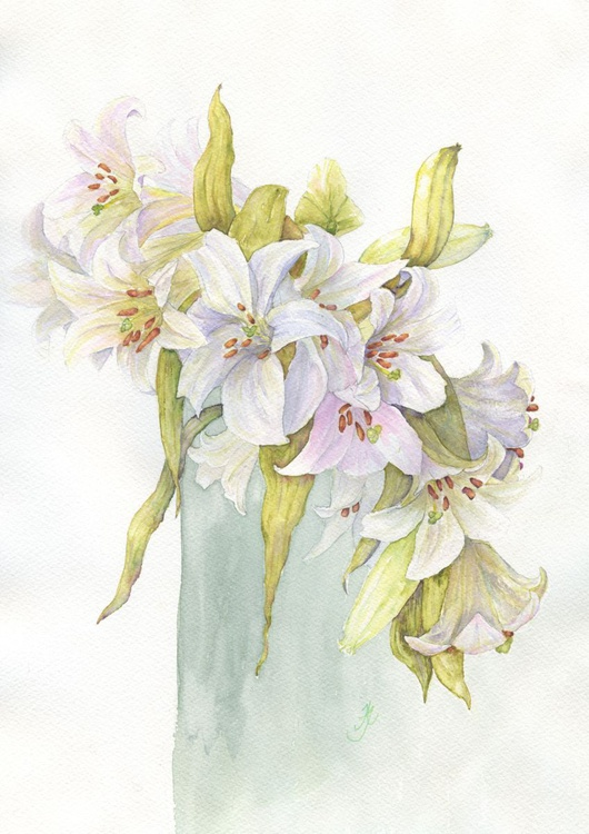 Vase with Lillies - Image 0