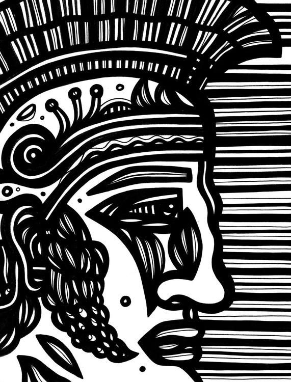 Roman Soldier Original Drawing - Image 0