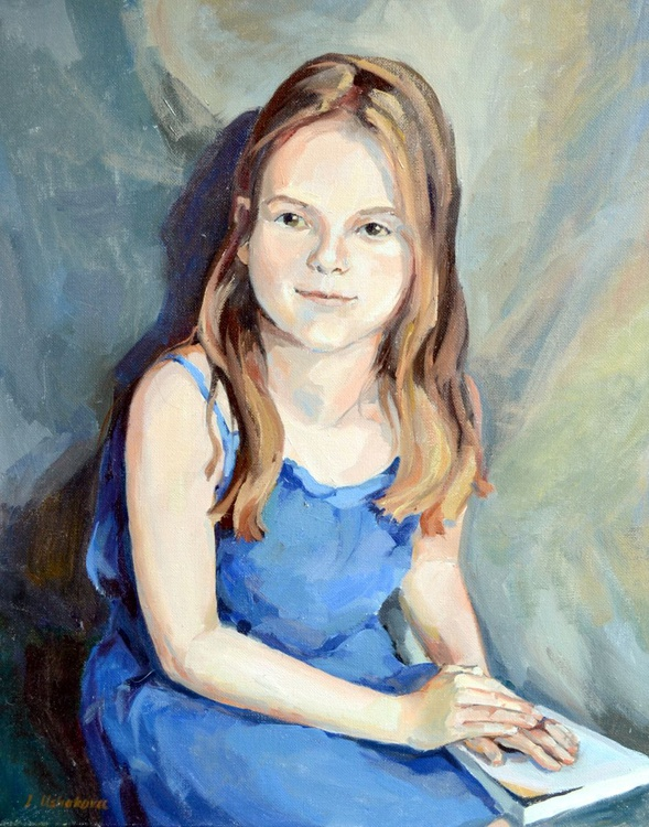 A Girl In A Blue Dress - Image 0