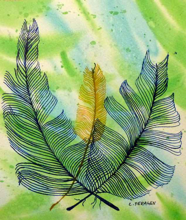Feathers #4 (series #s 1-5) -