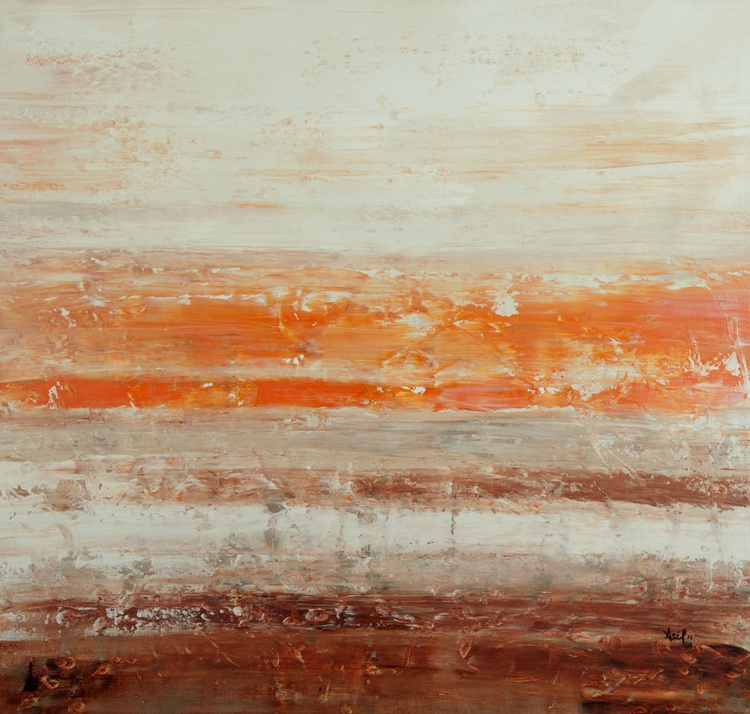 "Sahara Taupe - 36x34"" - READY-TO-HANG - Image 0"