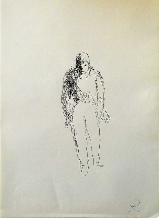 Single Figure #2, 29x41 cm - Image 0