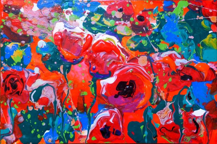 Poppies. original painting 30x20 cm - Image 0