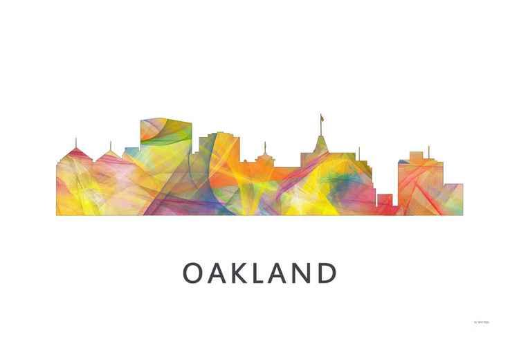 Oakland California Skyline WB1