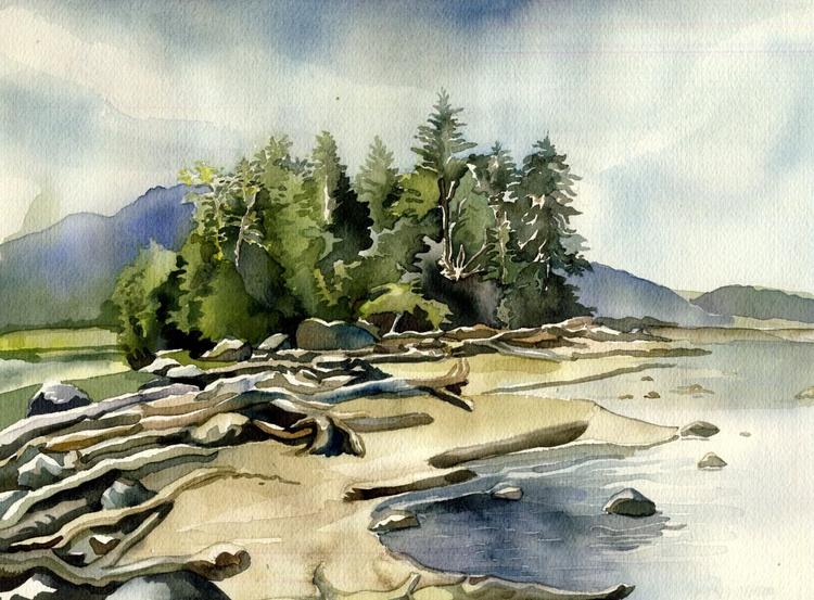 Coastline at Harrison hot spring, B.C. - Image 0