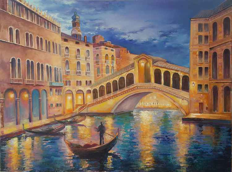 Bridge of Rialto. Twilights -