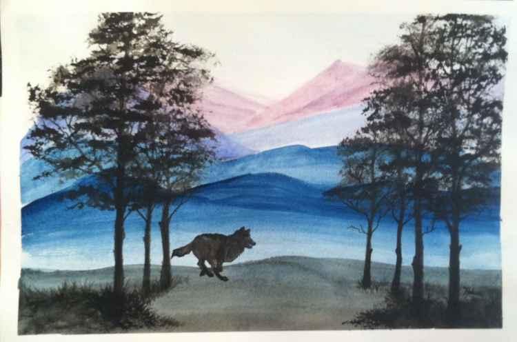 Running Wolf Landscape