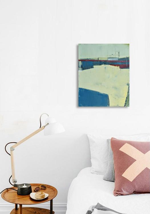 """Oil painting """"Landscape 07"""", 40/50 cm, oil painting on cotton canvas. Unique impasto texture, abstract. - Image 0"""