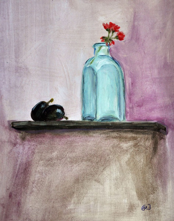 plums and vase - Image 0