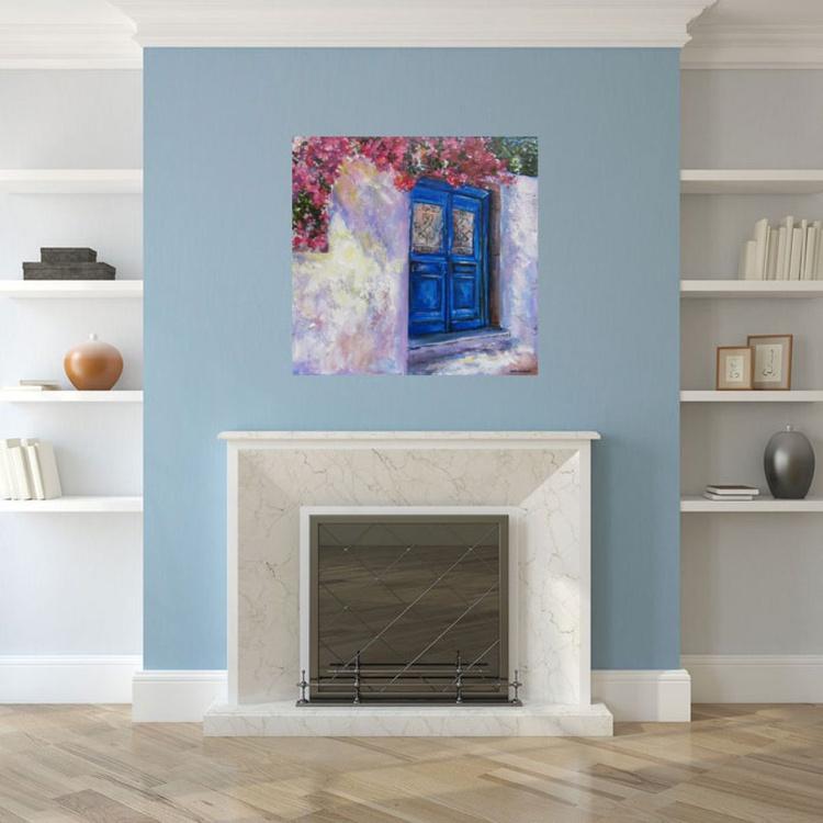 Blue door and Bougainvillea - Image 0