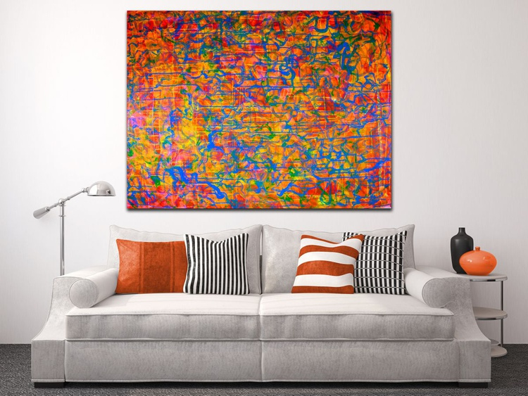 One of many shapes (Orange Pop!) Large statement piece! - Image 0