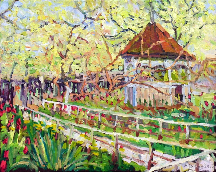 A Garden with a Pavilion - Image 0