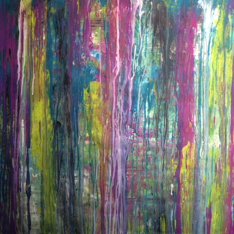 Hanging Gardens - Acrylic on canvas 32x32 - Image 0