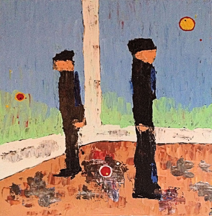 """The Beholders (2016) - Acrylic Painting - 19.69 x 19.69"""" - FREE SHIPPING - Image 0"""
