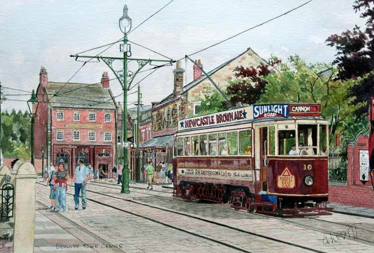 Tram Royal Oak at Beamish Museum -
