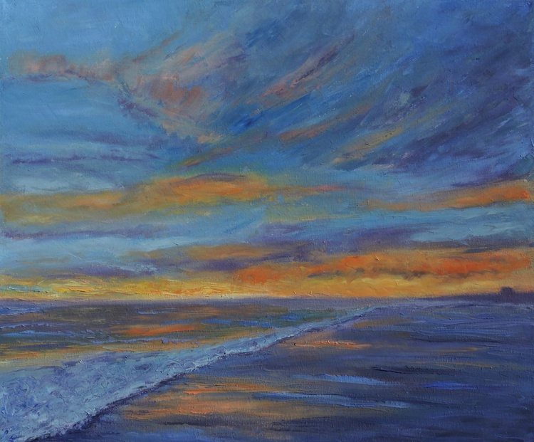Sunset over the ocean - Image 0