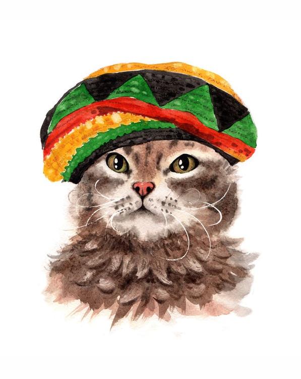 Rastafarian Cat - Image 0