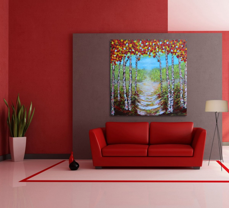 Young Trees-Large Size Ready to Hang - Image 0