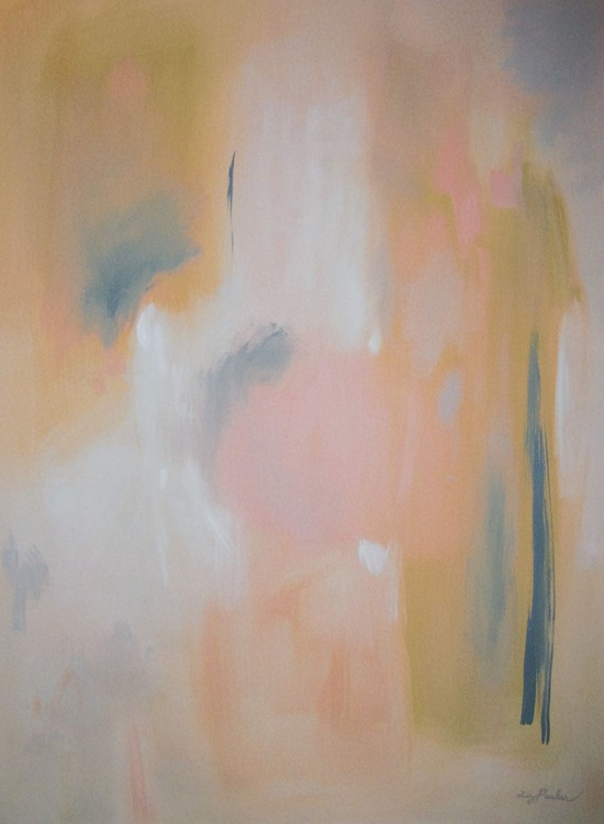 Abstract in Peach with Grey - Image 0