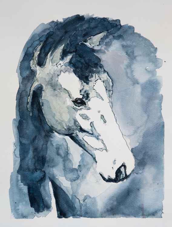 """""""Harley"""", original watercolor painting, 11.2""""x15.2"""" (28x38cm)"""