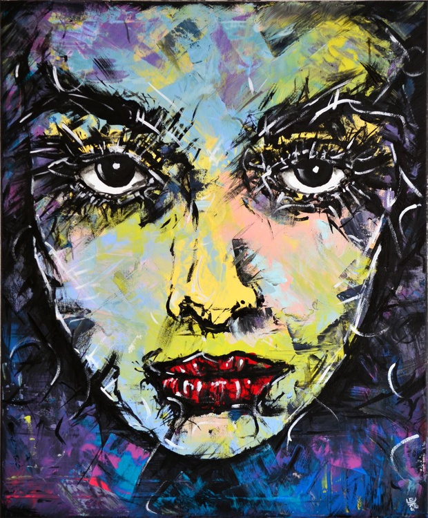 Desire - Original Acrylic Painting Art on Canvas Ready To Hang - Image 0