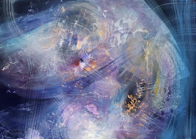 Guardian oneiric superbe fantastic diaphane light mindscape by romanian master Ovidiu Kloska special offer - Image 0