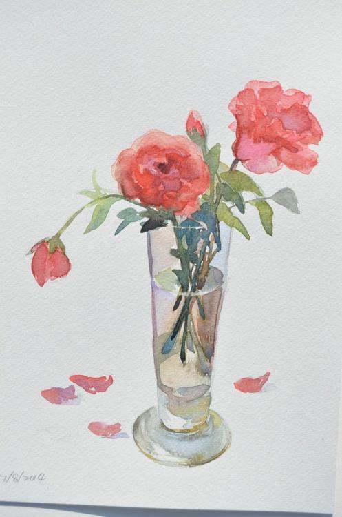 Roses in a Vase - Image 0