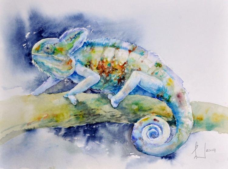 I DISAPPEAR original watercolor - Image 0