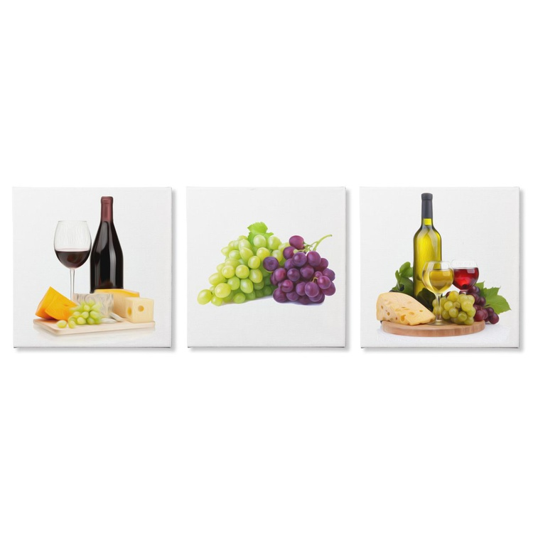 Wine and Cheese | Modern Food Art, Giclée Print on Canvas - Image 0