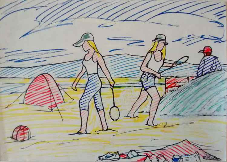 Girls on the beach -