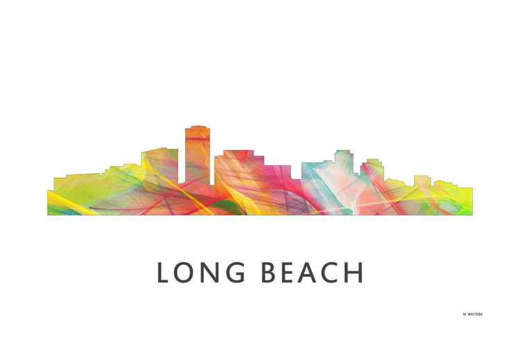 Long Beach California Skyline WB1 -