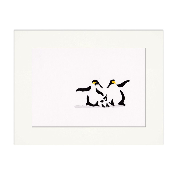 Two penguins and a chick 6 - Image 0