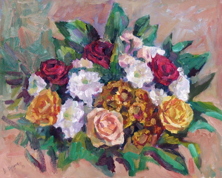 Bouquet for my Woman (study) 50*40 - Image 0