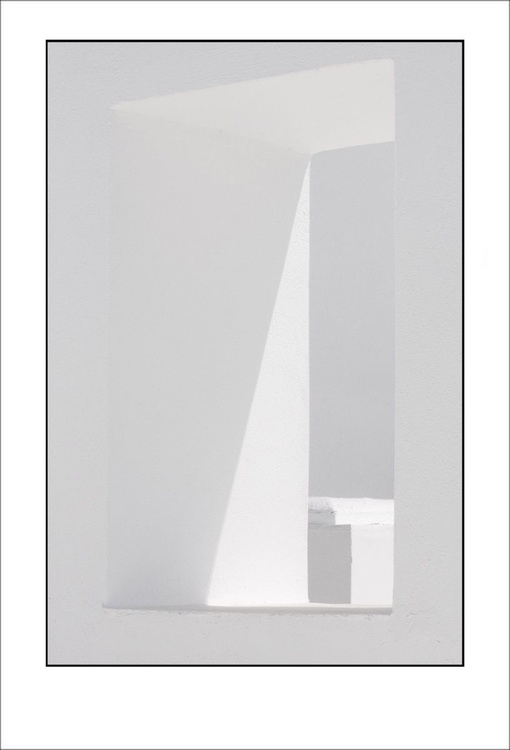 From the Greek Minimalism series: Greek Architectural Detail (White and White) # 7, Santorini, Greece - Image 0