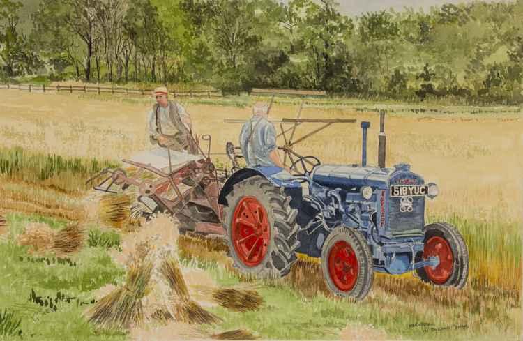 Harvesting in bygone days -