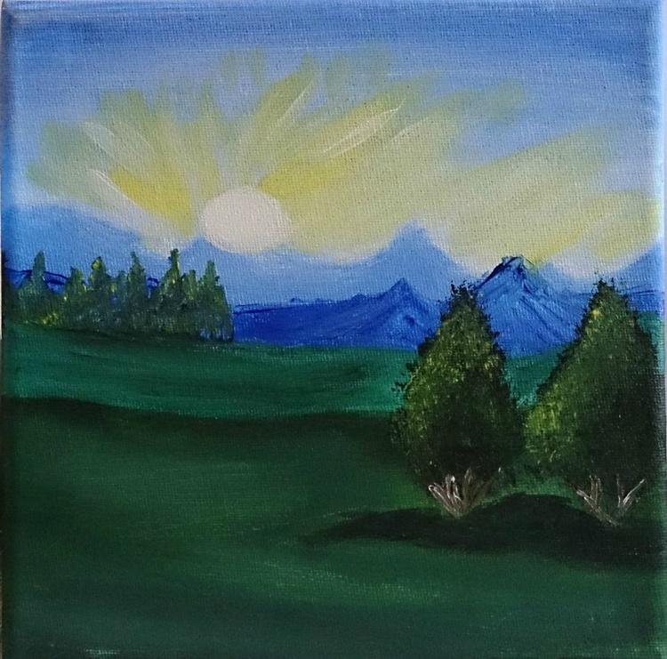 Mountain sunrise - Spring landscape - Image 0