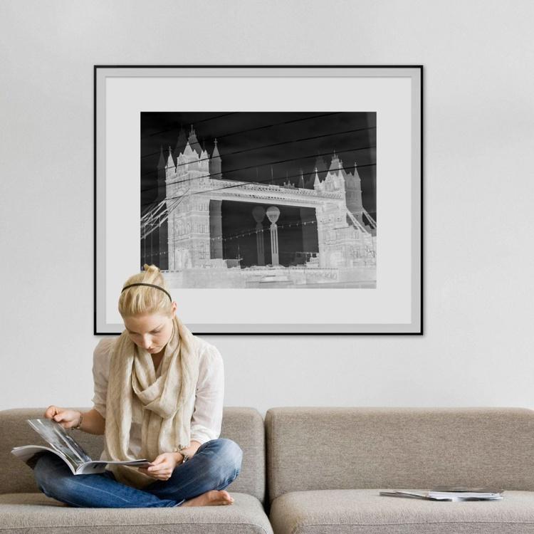 "TOWER BRIDGE DOUBLE VISION NEG (Limited edition  1/10 40""X30"") - Image 0"
